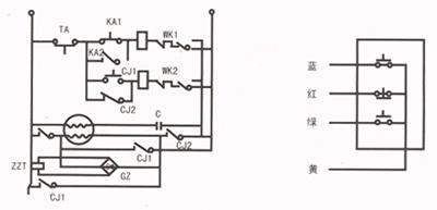 气原理图 按钮开关接线-卷帘门电机接线图 220v卷帘门电机接线图 三图片